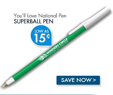 National Pen Superball Pen. Low as 15¢