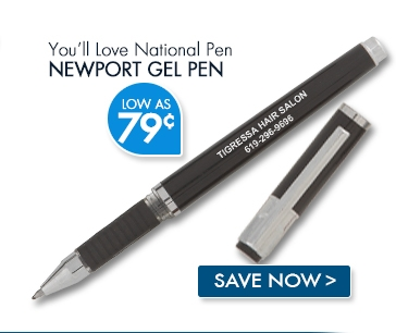 National Pen Newport Gel Pen. Low as 75¢