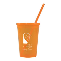 Customized Jewel Tumbler w/ Lid & Straw - 16 oz