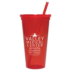 Customized Jewel Tumbler w/ Lid & Straw - 24 oz