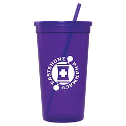 Customized Jewel Tumbler w/ Lid & Straw - 32 oz