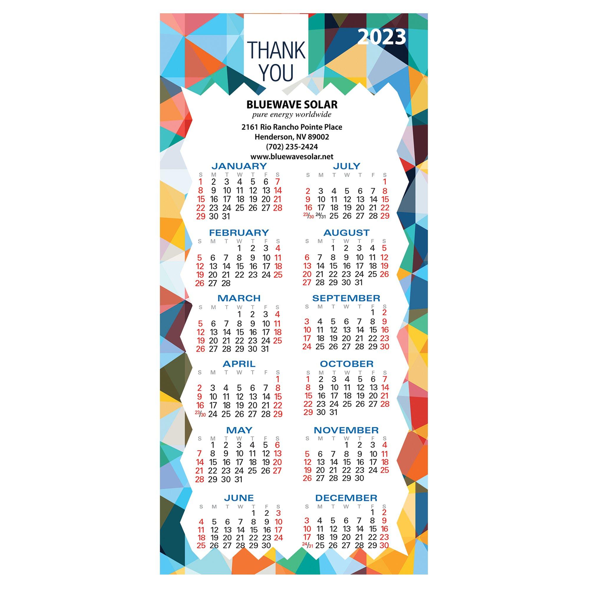 promotional deluxe no 10 envelope sized calendar magnet