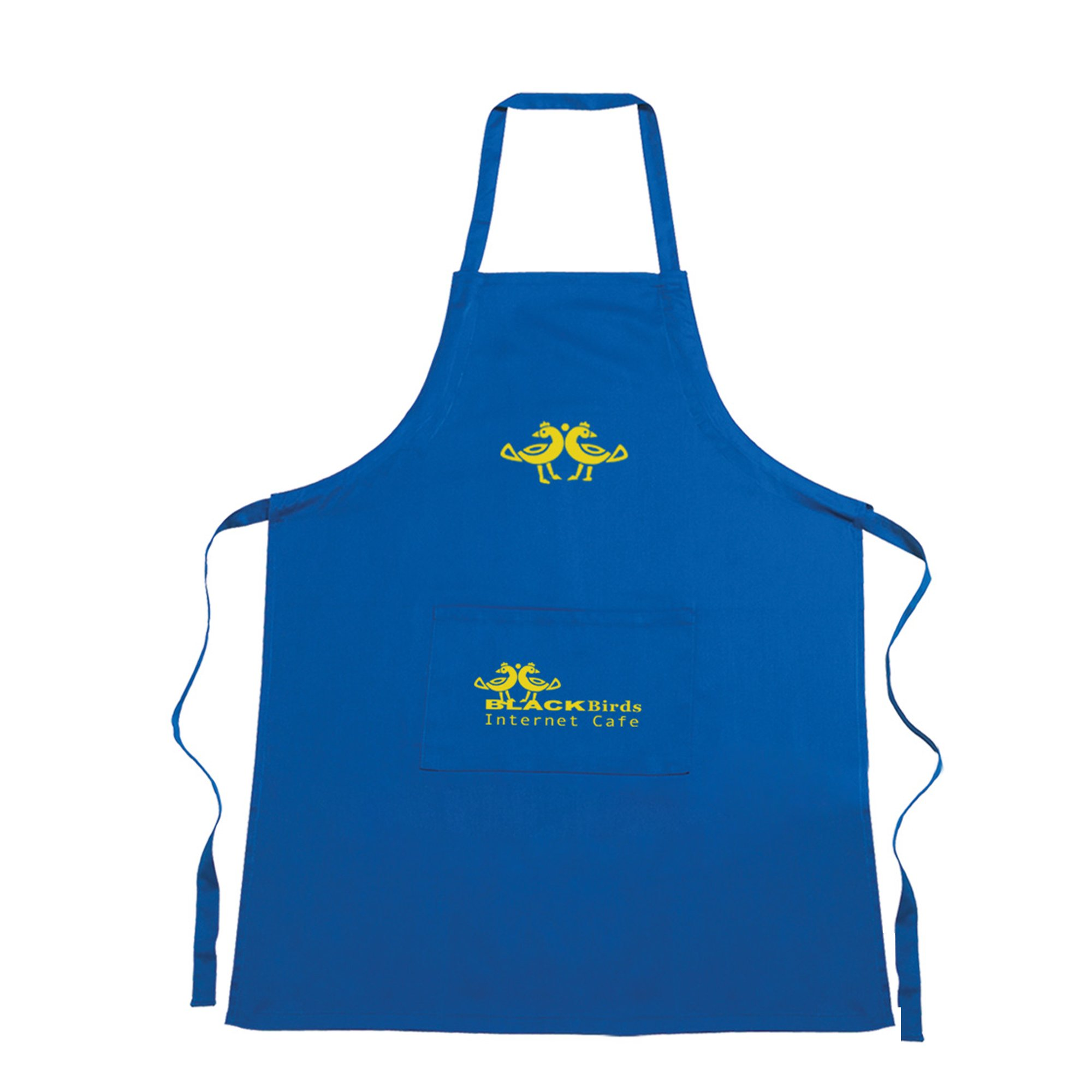 Stay clean and comfy in the kitchen and advertise your brand at the same time!  Show off your logo by giving away these aprons made from 100% pure cotton at your next tradeshow or promotional company event. With you brand name on these aprons, you're sure to stand out!