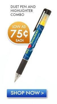 Duet Pen and Highlighter Combo