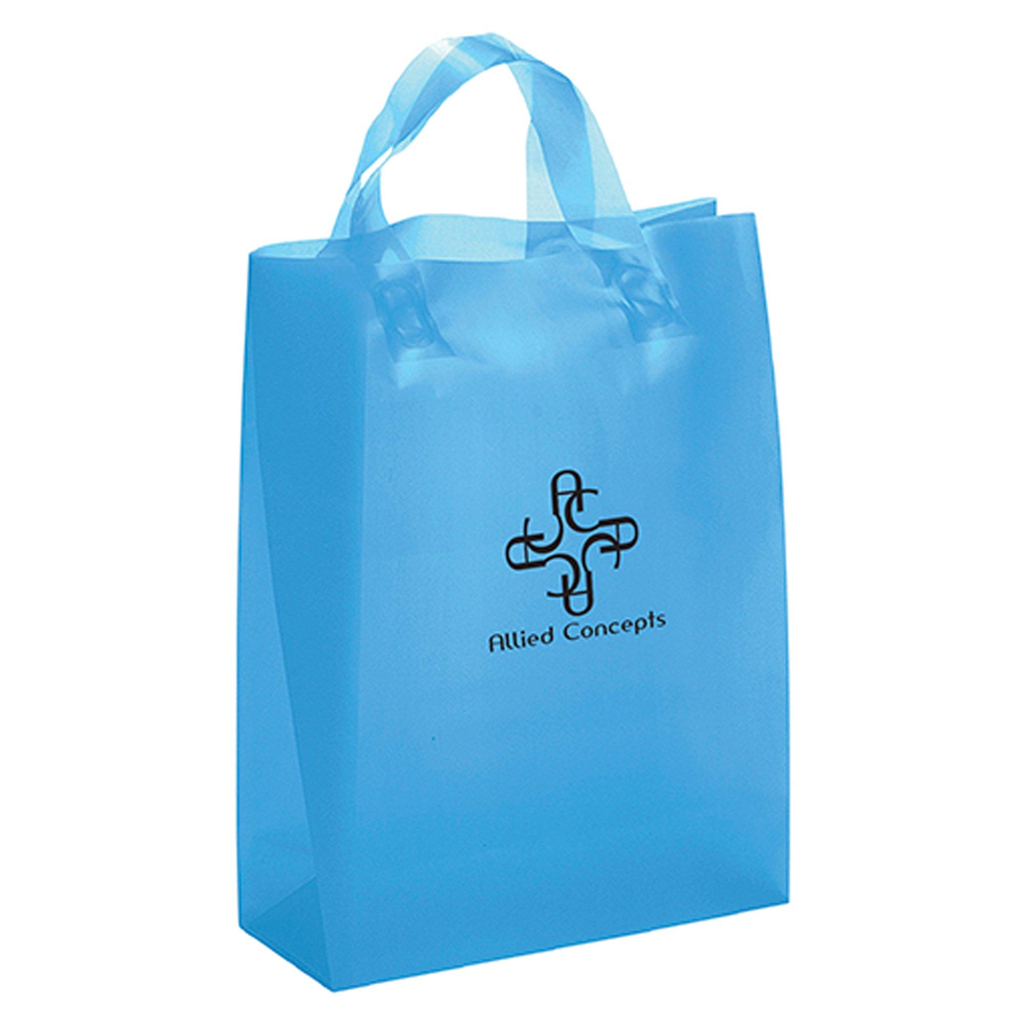 Custom 8 Quot X 10 Quot Frost Color Plastic Bag With Handles