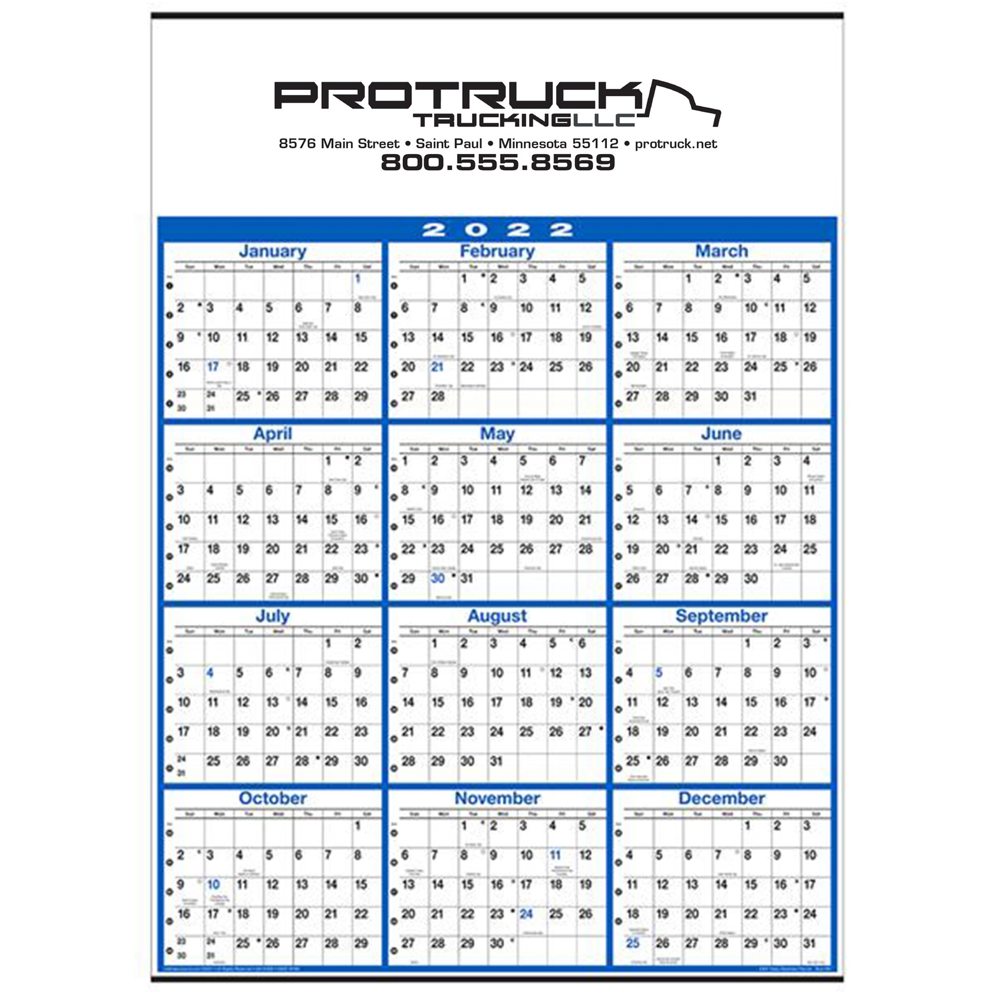 Year Calendar Buy : Buy promotional yearly business planner wall calendar