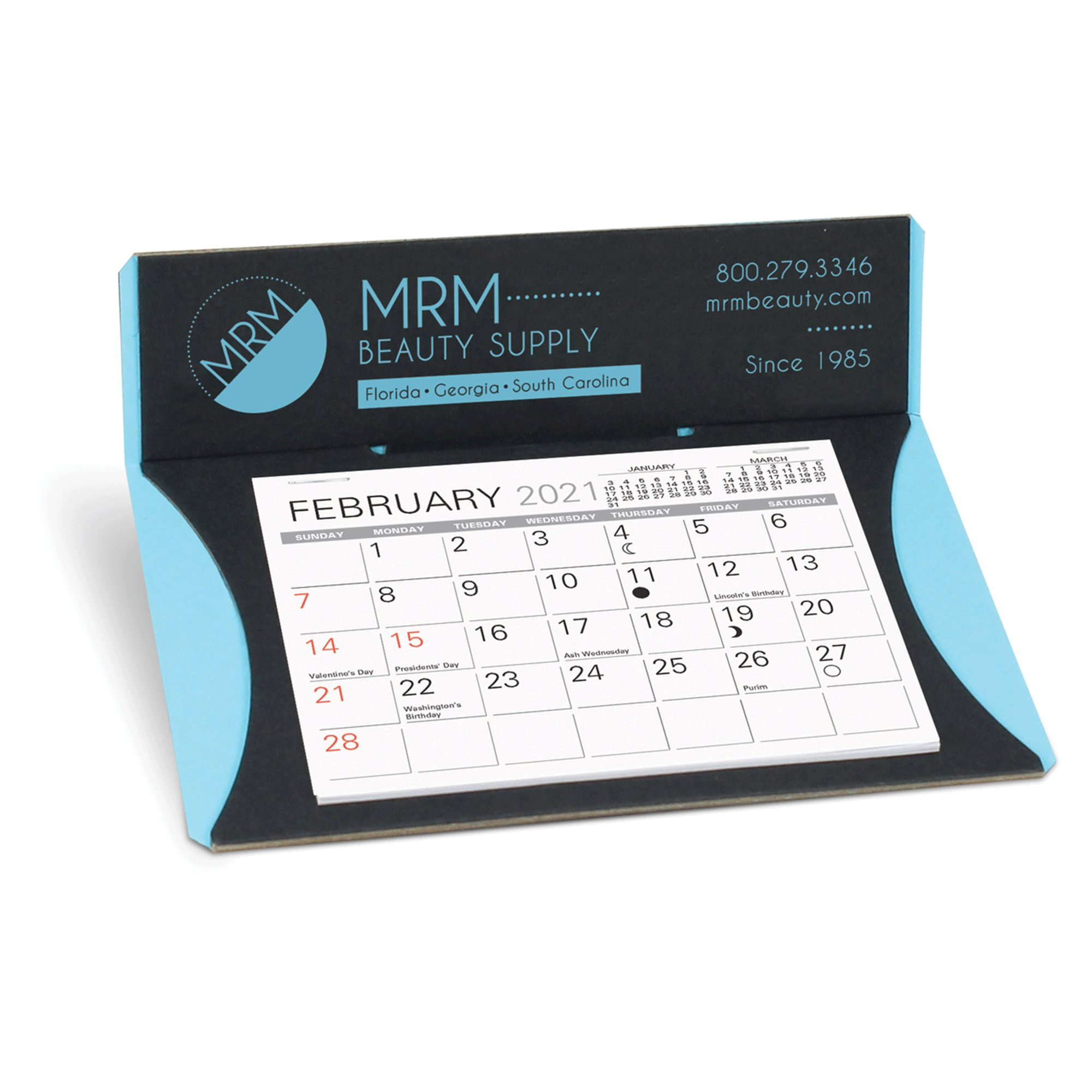 Get personalised calendars printed with your company logo and branding making them an ideal gift for customers. Wall calendars, desk calendars and more. Buy online.