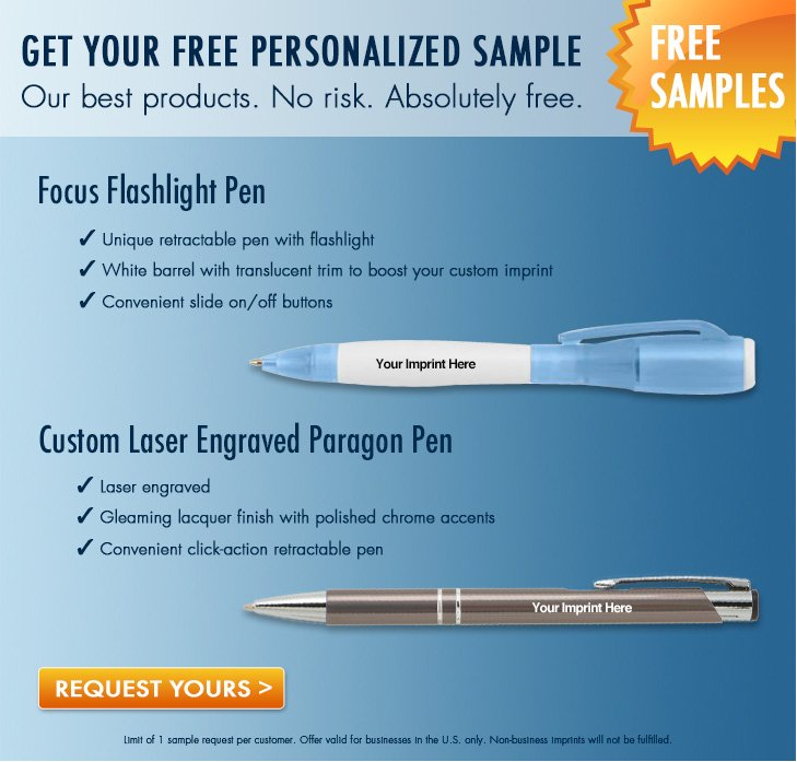 FREE Personalized Pen Sample..