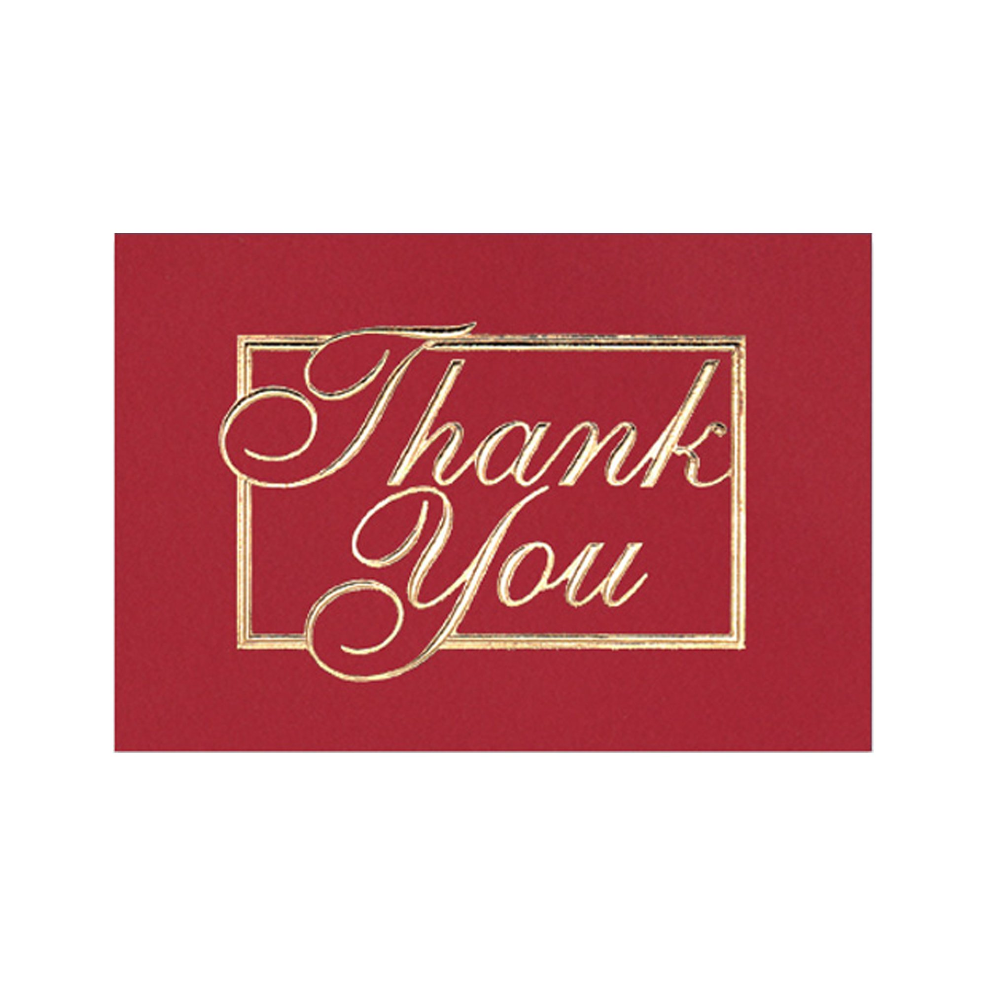 promotional red and gold thank you greeting card