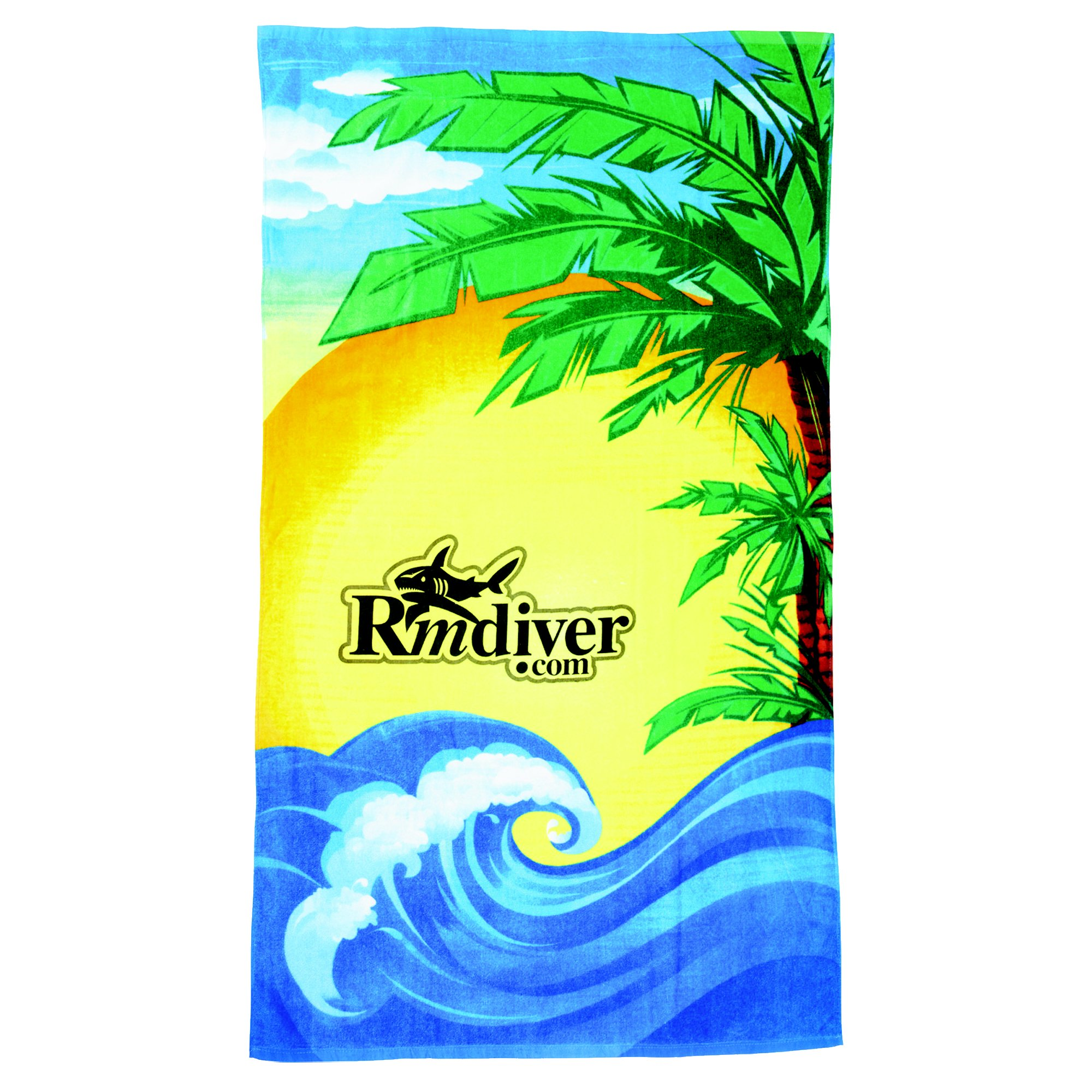 Did Fieldcrest Towels Go Out Of Business: Promotional Beach Towel With Beach Scene