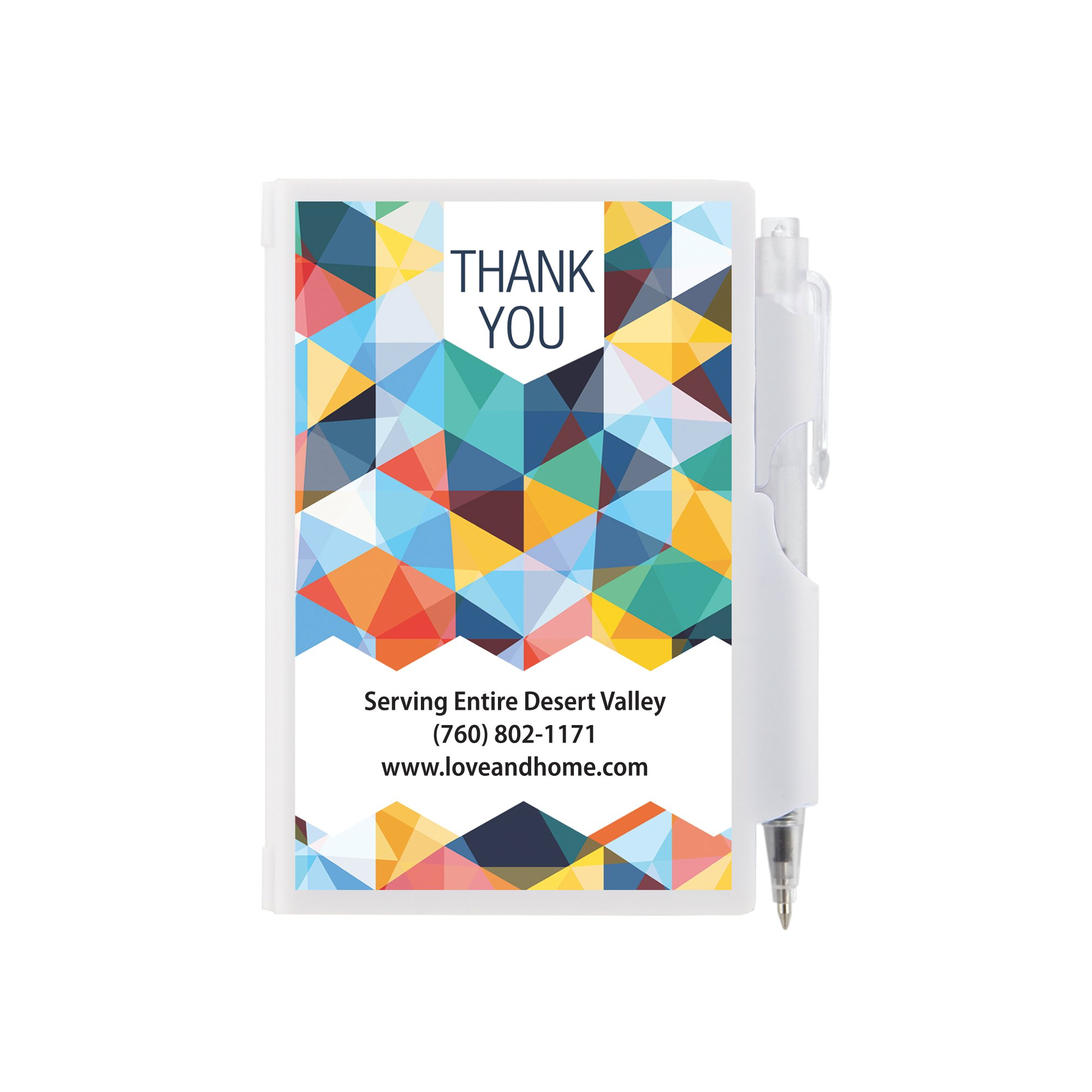 Customized Plastic Cover Note Pad